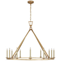 Visual Comfort CHC5173AB Chapman & Myers Darlana 12 Light 50 inch Antique-Burnished Brass Single Ring Chandelier Ceiling Light Extra Large
