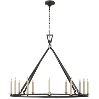 Visual Comfort CHC5173AI Chapman & Myers Darlana 12 Light 50 inch Aged Iron Single Ring Chandelier Ceiling Light Extra Large