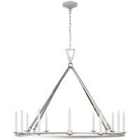 Visual Comfort CHC5173PN Chapman & Myers Darlana 12 Light 50 inch Polished Nickel Single Ring Chandelier Ceiling Light Extra Large