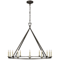 Visual Comfort CHC5174AI Chapman & Myers Darlana 12 Light 40 inch Aged Iron Single Ring Chandelier Ceiling Light Large