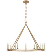 Visual Comfort CHC5174GI Chapman & Myers Darlana 12 Light 40 inch Gilded Iron Single Ring Chandelier Ceiling Light Large