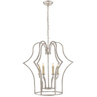 Visual Comfort CHC5175BSL E. F. Chapman Hollywood 6 Light 28 inch Burnished Silver Leaf Foyer Lantern Ceiling Light, E.F. Chapman, Medium, Frame