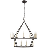 E. F. Chapman Darlana 20 Light 30 inch Aged Iron Chandelier Ceiling Light