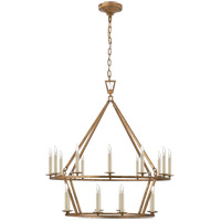 Visual Comfort CHC5178GI E. F. Chapman Darlana 20 Light 30 inch Gilded Iron Chandelier Ceiling Light