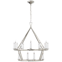E. F. Chapman Darlana 20 Light 30 inch Polished Nickel Chandelier Ceiling Light