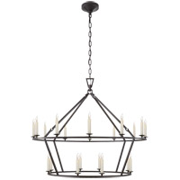 E. F. Chapman Darlana 20 Light 40 inch Aged Iron Chandelier Ceiling Light