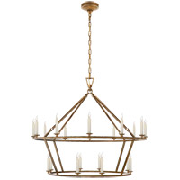 Visual Comfort CHC5179GI E. F. Chapman Darlana 20 Light 40 inch Gilded Iron Chandelier Ceiling Light