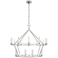 Visual Comfort CHC5179PN E. F. Chapman Darlana 20 Light 40 inch Polished Nickel Chandelier Ceiling Light