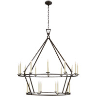 Visual Comfort CHC5199AI E. F. Chapman Darlana 20 Light 50 inch Aged Iron Chandelier Ceiling Light