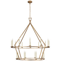 Visual Comfort CHC5199GI E. F. Chapman Darlana 20 Light 50 inch Gilded Iron Chandelier Ceiling Light