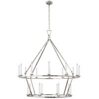 Visual Comfort CHC5199PN E. F. Chapman Darlana 20 Light 50 inch Polished Nickel Chandelier Ceiling Light
