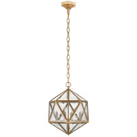 E. F. Chapman Zeno 4 Light 16 inch Gilded Iron Pendant Ceiling Light, E.F. Chapman, Medium, 18-Facet Hedron, Lantern, Antique Mirror Glass