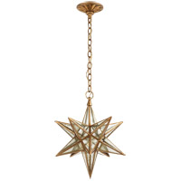 E. F. Chapman Moravian Star 1 Light 18 inch Gilded Iron Pendant Ceiling Light