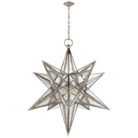 E.F. Chapman Moravian Star 3 Light 48 inch Burnished Silver Leaf Pendant Ceiling Light