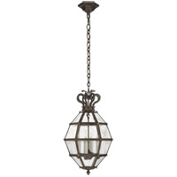 Visual Comfort CHC5261AI-AM Chapman & Myers Venezia 4 Light 14 inch Aged Iron Faceted Scroll-Top Lantern Pendant Ceiling Light, Small