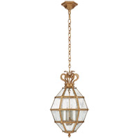 Visual Comfort CHC5261GI-AM Chapman & Myers Venezia 4 Light 14 inch Gilded Iron Faceted Scroll-Top Lantern Pendant Ceiling Light Small
