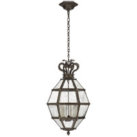 Visual Comfort CHC5262AI-AM Chapman & Myers Venezia 6 Light 20 inch Aged Iron Faceted Scroll-Top Lantern Pendant Ceiling Light, Medium