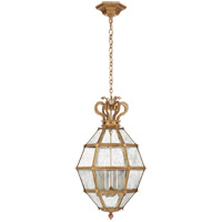 Visual Comfort CHC5262GI-AM Chapman & Myers Venezia 6 Light 20 inch Gilded Iron Faceted Scroll-Top Lantern Pendant Ceiling Light Medium