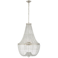 E. F. Chapman Linfort 8 Light 24 inch Polished Nickel Pendant Ceiling Light, E.F. Chapman, Medium, Basket Form Chandelier, Clear Beaded Glass
