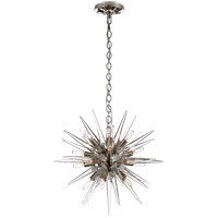 Visual Comfort E.F. Chapman Quincy 20 Light 20-inch Pendant in Polished Nickel, Small, Sputnik, Clear Acrylic Shade CHC5286PN-CA