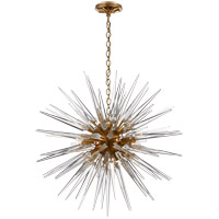 Visual Comfort CHC5287AB-CA E. F. Chapman Quincy 20 Light 30 inch Antique Burnished Brass Pendant Ceiling Light in Antique-Burnished Brass, E.F. Chapman, Medium, Sputnik, Clear Acrylic Shade
