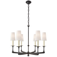 Visual Comfort CHC5315AI-L E. F. Chapman Gabriel 6 Light 35 inch Aged Iron Chandelier Ceiling Light, Medium