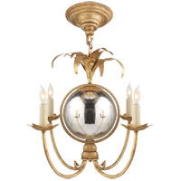 E.F. Chapman Gramercy 4 Light 17 inch Gilded Iron Chandelier Ceiling Light