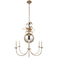 E. F. Chapman Gramercy 6 Light 33 inch Gilded Iron Chandelier Ceiling Light
