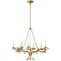 Visual Comfort E.F. Chapman Branch 12 Light Chandelier in Gilded Iron CHC5374GI