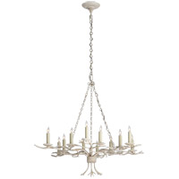 Visual Comfort E.F. Chapman Branch 12 Light Chandelier in Old White CHC5374OW