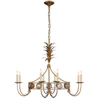 Visual Comfort CHC5377GI E. F. Chapman Gramercy 8 Light 36 inch Gilded Iron Chandelier Ceiling Light, E.F. Chapman, Medium, Ring