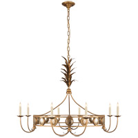 Visual Comfort E.F. Chapman Gramercy 8 Light 45-inch Chandelier in Gilded Iron, Large, Ring CHC5378GI