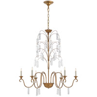 E. F. Chapman Branch 6 Light 37 inch Gilded Iron Chandelier Ceiling Light