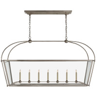 E. F. Chapman Plantation 7 Light 54 inch Antique Nickel Linear Pendant Ceiling Light, Large