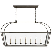 E. F. Chapman Plantation 7 Light 54 inch Bronze Linear Pendant Ceiling Light, Large