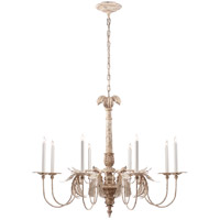 E. F. Chapman Savona 8 Light 44 inch Old White Chandelier Ceiling Light, Large