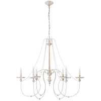 Visual Comfort CHC5445BW E. F. Chapman Umbria 6 Light 42 inch Belgian White Chandelier Ceiling Light