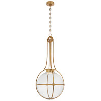 Visual Comfort CHC5479AB-CG Chapman & Myers Gracie LED 19 inch Antique-Burnished Brass Captured Globe Pendant Ceiling Light Large