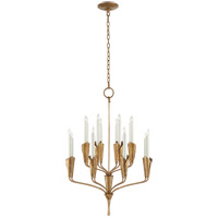 Visual Comfort CHC5501GI Chapman & Myers Aiden 16 Light 24 inch Gilded Iron Chandelier Ceiling Light, Small