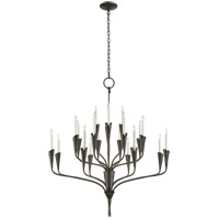 Visual Comfort CHC5503AI Chapman & Myers Aiden 20 Light 40 inch Aged Iron Chandelier Ceiling Light, Large