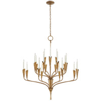 Visual Comfort CHC5503GI Chapman & Myers Aiden 20 Light 40 inch Gilded Iron Chandelier Ceiling Light Large