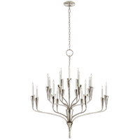 Visual Comfort CHC5503PN Chapman & Myers Aiden 20 Light 40 inch Polished Nickel Chandelier Ceiling Light, Large