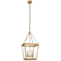 Visual Comfort CHC5611AB-CG E. F. Chapman Launceton 4 Light 17 inch Antique-Burnished Brass Foyer Lantern Ceiling Light, Medium Square
