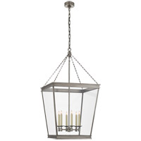 Visual Comfort CHC5612AN-CG E. F. Chapman Launceton 4 Light 24 inch Antique Nickel Foyer Lantern Ceiling Light Large Square
