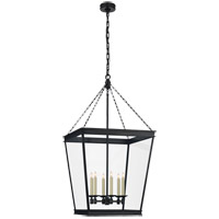 Visual Comfort CHC5612BZ-CG E. F. Chapman Launceton 4 Light 24 inch Bronze Foyer Lantern Ceiling Light, Large Square