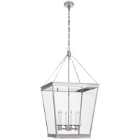 Visual Comfort CHC5612PN-CG E. F. Chapman Launceton 4 Light 24 inch Polished Nickel Foyer Lantern Ceiling Light, Large Square