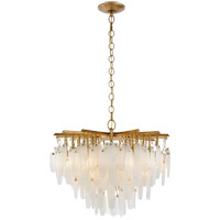 Visual Comfort CHC5910AB-ALB Chapman & Myers Cora LED 31 inch Antique-Burnished Brass Waterfall Chandelier Ceiling Light, Small