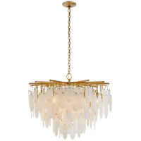 Visual Comfort CHC5911AB-ALB Chapman & Myers Cora LED 41 inch Antique-Burnished Brass Waterfall Chandelier Ceiling Light, Medium