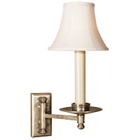 Visual Comfort E.F. Chapman Dorchester 1 Light Swing-Arm Wall Light in Antique Nickel CHD1112AN
