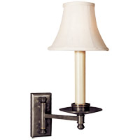 Visual Comfort E.F. Chapman Dorchester 1 Light Swing-Arm Wall Light in Bronze with Wax CHD1112BZ